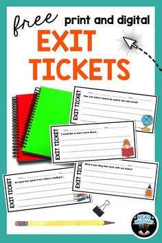 Download these free exit tickets for any subject or text! Perfect for back to school. Available as printable PDFs or Google Slides download. Great for writing and reading comprehension.  #GoogleClassroom #DistanceLearning #DigitalHybrid #HybridLearning #DistanceLearningELA #DigitalLessonPlans #MiddleSchoolELA Education Middle School, Middle School Ela, Back To School, Teacher Page, Meet The Teacher, Sorting Games, Data Binders, Exit Tickets, Content Area