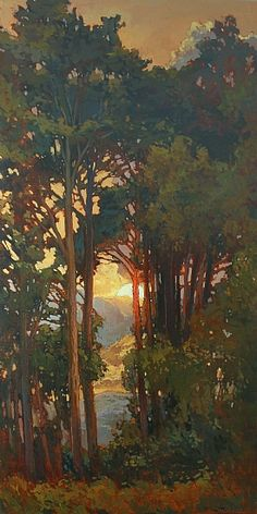 Cathedral by Jan Schmuckal Oil ~ 48 x 24