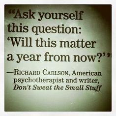"Richard Carlson Ph.D. was an American author, psychotherapist, and motivational speaker, who rose to fame with the success of his book, ""Don't Sweat the Small Stuff…and it's all Small Stuff"", which became one of the fastest-selling books of all time.  People magazine named Richard Carlson as one of that publication's ""Most Intriguing People in the World."" Meanwhile he also appeared in Don't Sweat the Small Stuff... and It's All Small Stuff, TV Special, and soon took up writing full-time."
