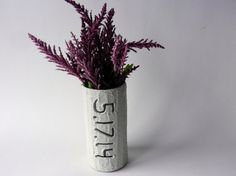 Custom special Date Gift / Vase with date by CarriageOakCottage