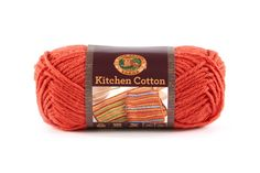 KITCHEN COTTON- CAYENNE - Made in the USA, this classic worsted-weight cotton is perfect for kitchen items and bath accessories. Its bright, retro-inspired palette is ideal for stripes, ripples, and colorwork projects. The smaller size of the skeins means that you can mix and match your own color palette affordably.