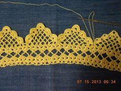 Orilla tejida en Picos parte # 2