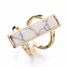 Bar Marble Ring