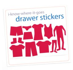 Label kids' drawers with I Know Where It Goes drawer stickers. Just $ 5!