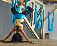 Learn the benefits of AntiGravity Yoga at Yoga flight @yogaflight1 www.yoga-flight.com
