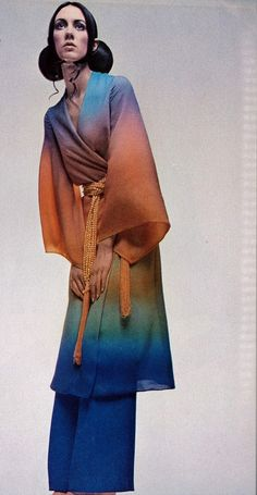 March 1970 Italian Vogue - ombre then and very much now