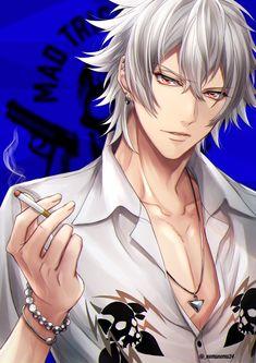 Anime White Hair Boy, Dark Anime Guys, Cute Anime Guys, Anime Oc, Anime Manga, Gaara, Shiro, Red Hood Jason Todd, Boy Illustration