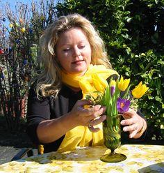 """Wie """"Die Blütensammlerin"""" im Roman: Petra liebt Blüten aller Art."""