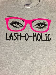 Lash-o-holic Younique T Shirt by Lianabelles on Etsy