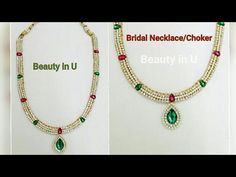 How to make Bridal Choker/ Bridal Silk Thread Necklace at Home | Tutorial - YouTube