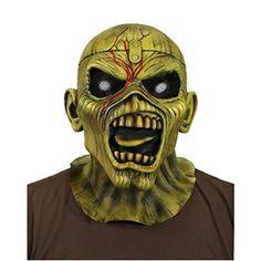 Iron Maiden Piece OF Mind Eddie Latex Costume Horror Halloween Mask Heavy Metal Heavy Metal Bands, Iron Maiden Mascot, Latex Halloween Masks, Halloween Stuff, Eddie The Head, Latex Costumes, Halloween Accessories, Horror Art, Vinyl