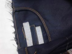 pieza delantera con contrastes para #pantalon jeans para mujer #modazeus