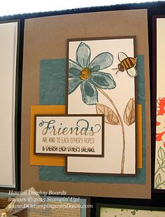 Garden In Bloom Display Board Samples from Hawaii Incentive Trip shared by Dawn Olchefske #dostamping #2015AnnualCatalog