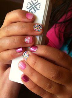 Jamberry juniors Easter manicure #sprinklesnadfrostingjn #peekaboobunnyjn