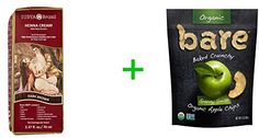 Surya Brasil Henna Cream Hair Coloring Dark Brown -- 2.37 fl oz(2 PACK),Bare Organic Baked Crunchy Apple Chips Gluten Free Great Granny -- 3 oz *** Find out more about the great product at the image link. We are a participant in the Amazon Services LLC Associates Program, an affiliate advertising program designed to provide a means for us to earn fees by linking to Amazon.com and affiliated sites.