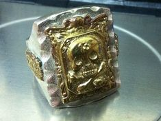 VINTAGE MENS Biker Ring Mexico Mexican Skull 13 Bones Silver 925 STERLING 925 Mexico Marked and 925 heavy 20.5 grams I clean the ring and the ring in excellent condition good luck i send all my items worldwide from israel I send all my items by registered airmail + Insurance