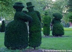 Topiary Garden at Old Deaf School Park in Columbus, OH - beautiful and interesting garden, a work in progress. Garden Whimsy, Garden Art, Garden Tips, Topiary Garden, Bush Garden, French People, Garden Angels, Green Garden, Garden Spaces