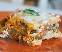 V is for: Vegetable Lasagna in the Slow Cooker {guest post}