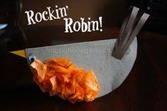 rockin' robin - cardboard bird craft