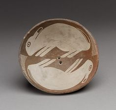 bunnies! what sweet depictions __ Mimbres pottery. mid-9th–12th century; rabbits