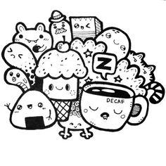 Image result for kawaii doodle art