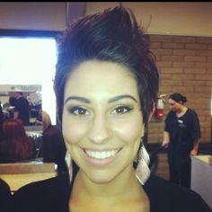 Cutest girl fohawk...I use to have my hair like this...it super cute on this chick
