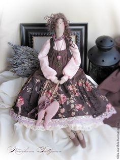Купить Зефир в шоколаде (Домашний ангел в стиле Тильда) - коричневый, шоколадный, розовый, тильда, ангел ♡