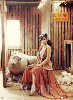Kim Tae-hee on Vogue