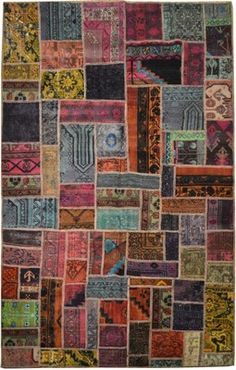 Overdyed Persian 5x8 handmade Rug PATCHWORK