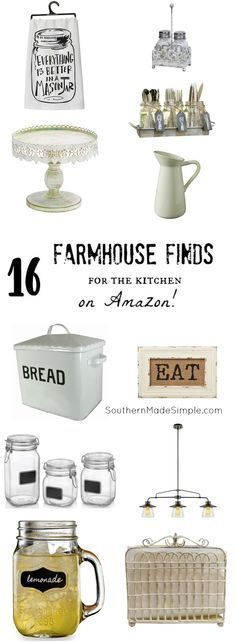 Fixer Upper Insipred Farmhouse Home Decor for the Kitchen! The best part? It's all available on Amazon! Hello, 2 day shipping!