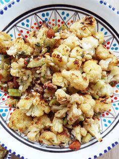 Insalata Ottolenghi di cavolfiore al forno Yotam Ottolenghi, Quinoa, Cauliflower, Vegetables, Food, Cauliflowers, Essen, Vegetable Recipes, Meals
