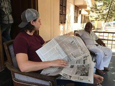 Cameron and Brother Adam talking on the porch.  #indiaoutreach #dts #outreach #ywamjax #YWAM #winterdts2016 #weloveindiaalready #india2016 # by hannahshmannah http://bit.ly/dtskyiv #ywamkyiv #ywam #mission #missiontrip #outreach