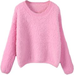 Blackfive Candy Tone Round Neck Loose Mink Cashmere Sweater
