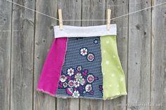 Upcycled tshirt yoga pant skirt