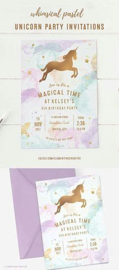 I like this watercolour background for rainbow party invites