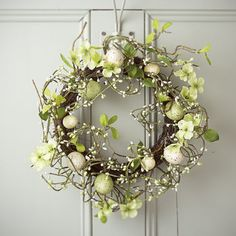 Country Meadow Easter Egg Wreath