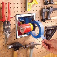Super garage storage workshop the family handyman Ideas Garage Tool Storage, Garage Tool Organization, Garage Storage Solutions, Garage Shed, Garage Shelving, Workshop Storage, Garage Tools, Shed Storage, Organization Hacks