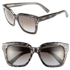 5fa1df85e1056 Women s Valentino 52mm Retro Sunglasses ( 325) ❤ liked on Polyvore  featuring accessories