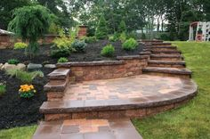 slopes and stairs and walls and plants.  Vertical is good: more space for vertical gardening.  Gallery - Photo Gallery: Category: Retaining Walls   Nicolock Interlocking Paving Stones and Retaining Walls