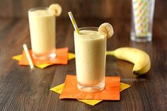This healthy 3 ingredient Banana Mango Smoothie made with fresh fruit and Greek yogurt will help you live a better lifestyle.