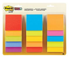 Post-it Super Sticky Notes, 3 in x 3 in, Assorted Colors, 15 Pads/Pack, 45 Sheets/Pad (654-15SSMULTI)