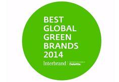 Best Global Green Brands 2014  Par Interbrand, Deloitte.  Via e-RSE