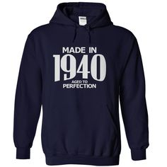 Made in 1940 - Aged ᐃ to PerfectionFind all years here https://www.sunfrog.com/Stephen/Aged-To-Perfection - Visit here for other designs https://www.sunfrog.com/Stephenbirth year, birthyear
