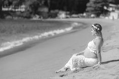 Ravini Gestante Marcos Bilate Garatucaia Angra dos Reis Mangaratiba praia branco tiara flores florida preto e branco