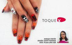 Happy Pumpink de Maruja Toledo #nailart #ToqueX