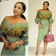 Ready To Be Admired in These Fabulous Short Ankara Gown Styles. Ready To Be Admired in These Fabulous Short Ankara Gown Styles Short Ankara Dresses, Ankara Dress Styles, Short Gowns, Ankara Gowns, African Print Dresses, African Dress, Ankara Blouse, Blouse Styles, African Clothes
