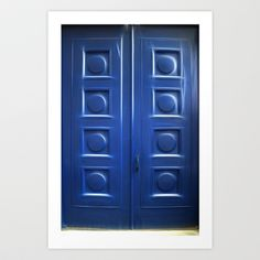 Blue Doors Art Print by Raymond Earley - $28.08