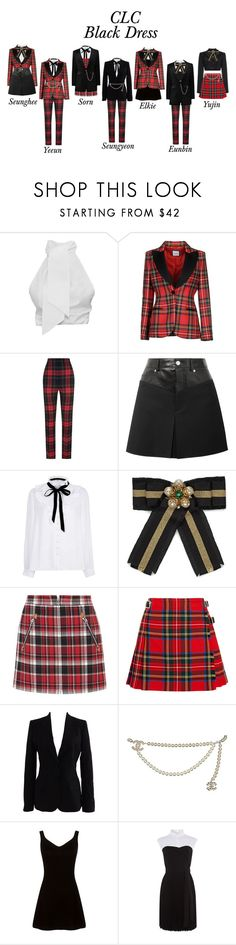 """CLC // Black Dress"" by karanova ❤ liked on Polyvore featuring Moschino, Burberry, Helmut Lang, River Island, Gucci, rag & bone, Christopher Kane, Dolce&Gabbana, Chanel and Karen Millen"