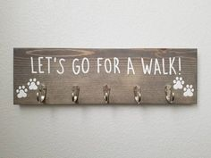 Fathers Day Gifts, Gifts For Dad, Dog Rooms, Key Hooks, Dog Leash, Dog Gifts, My Etsy Shop, Handmade Gifts, Fixer Upper