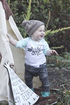 First birthday, tribal theme. Young Northwest Photography.